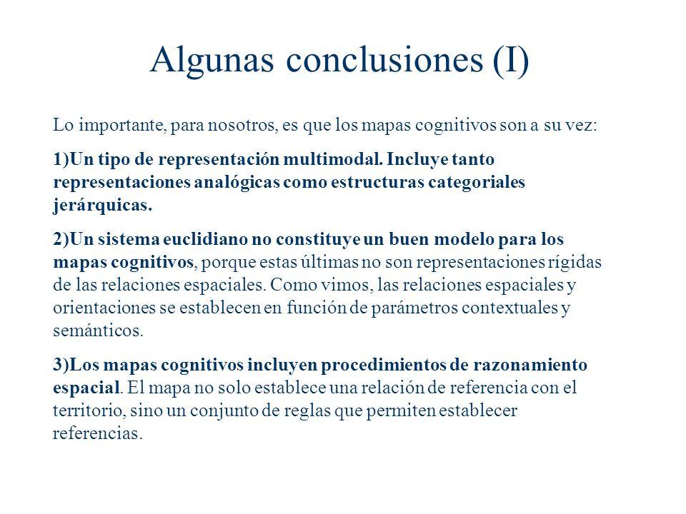 Algunas conclusiones (I)