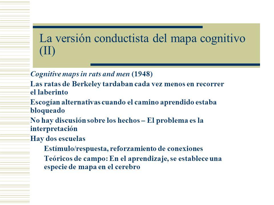 La versión conductista del mapa cognitivo (II)