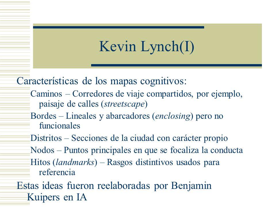 Kevin Lynch(I) Características de los mapas cognitivos: