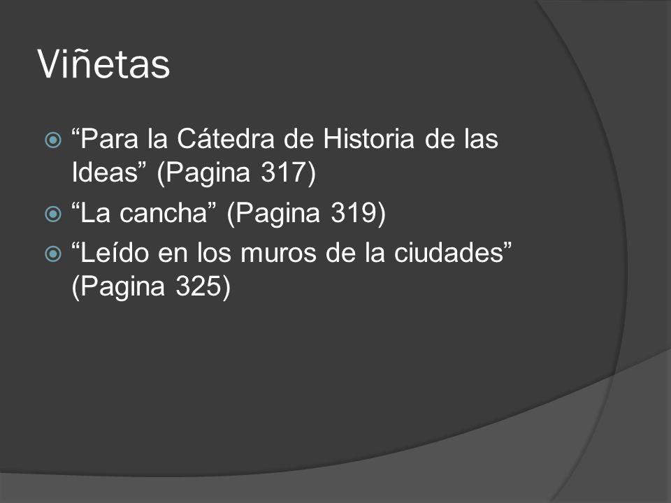 Viñetas Para la Cátedra de Historia de las Ideas (Pagina 317)