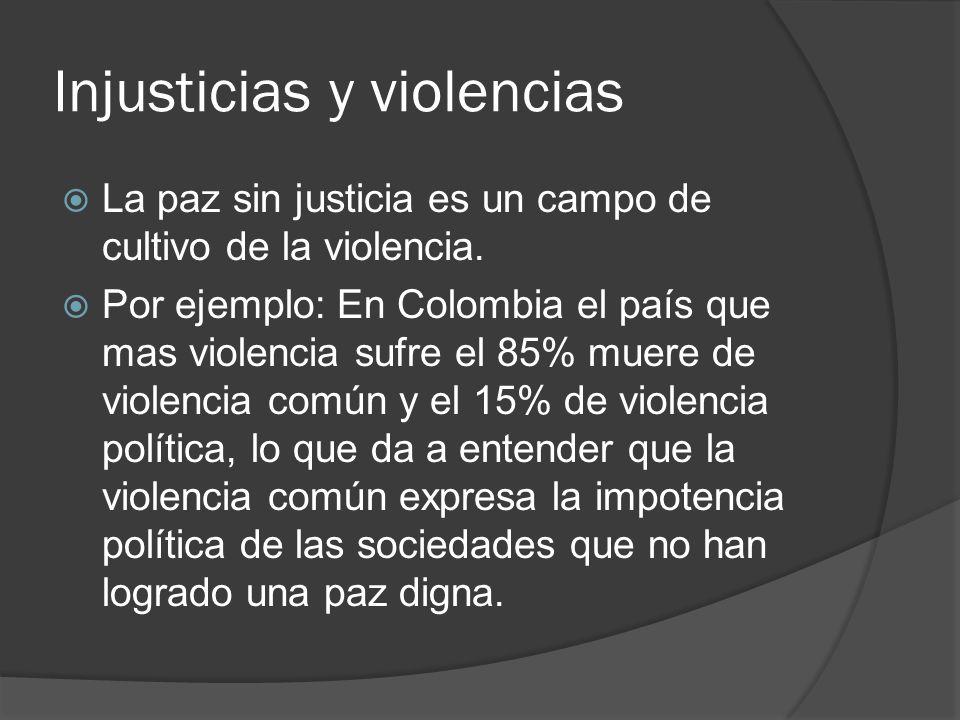 Injusticias y violencias