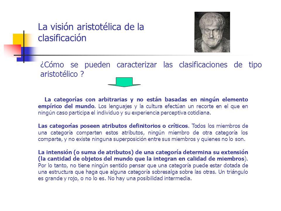 La visión aristotélica de la clasificación