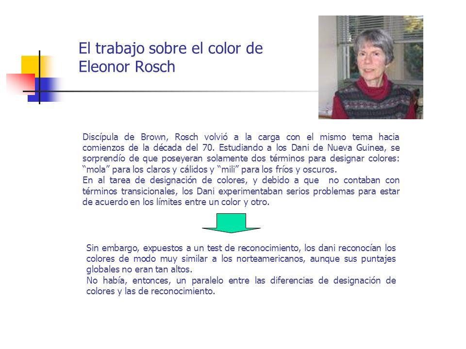 El trabajo sobre el color de Eleonor Rosch