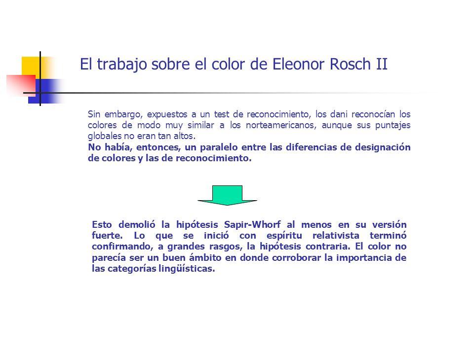 El trabajo sobre el color de Eleonor Rosch II