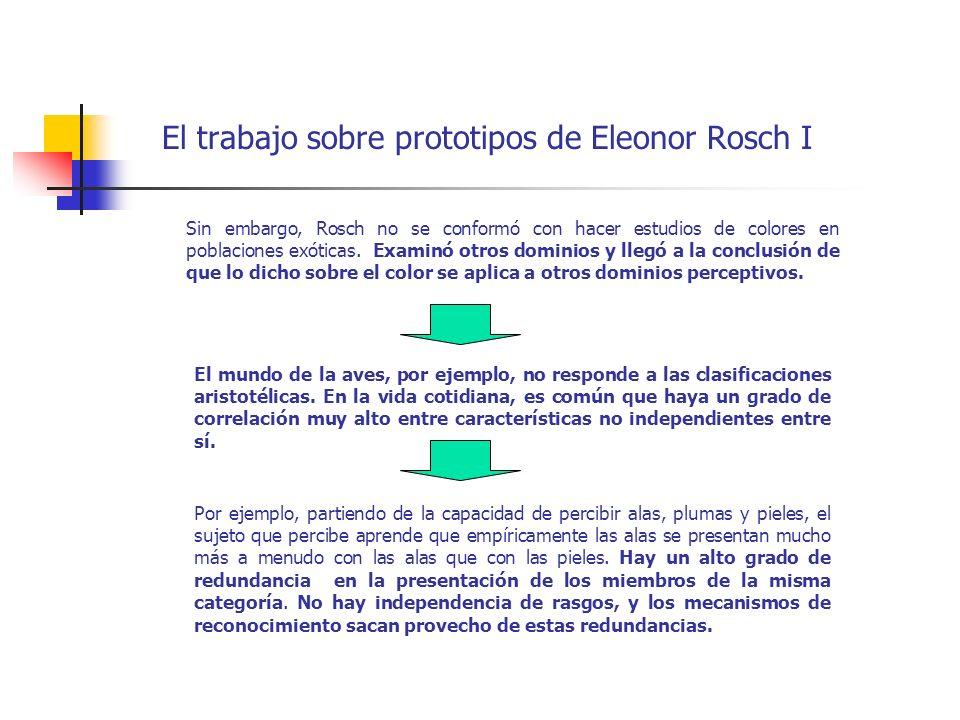 El trabajo sobre prototipos de Eleonor Rosch I