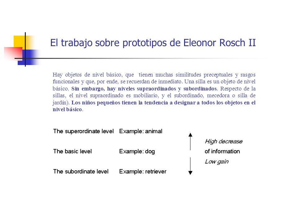 El trabajo sobre prototipos de Eleonor Rosch II