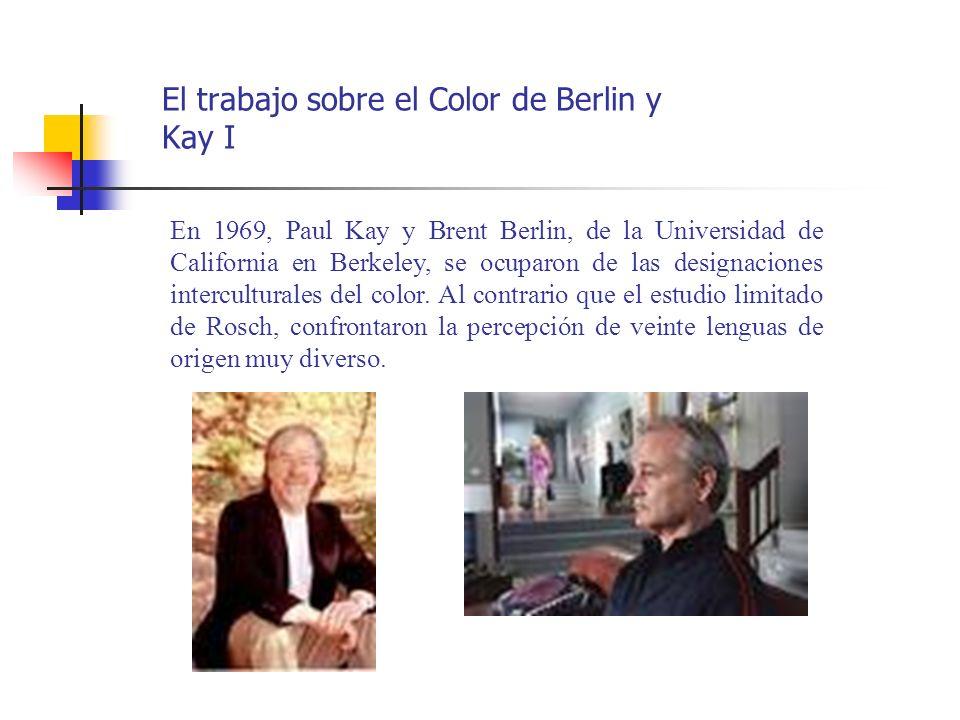 El trabajo sobre el Color de Berlin y Kay I