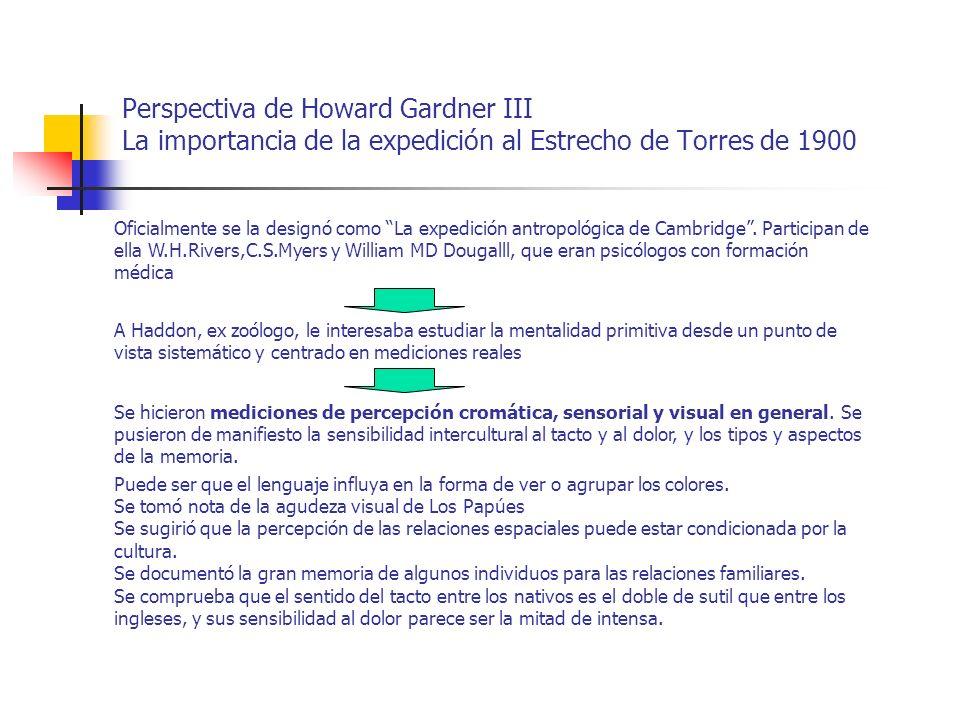Perspectiva de Howard Gardner III La importancia de la expedición al Estrecho de Torres de 1900