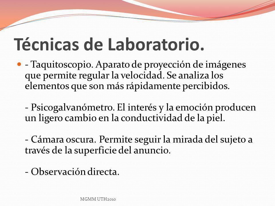 Técnicas de Laboratorio.