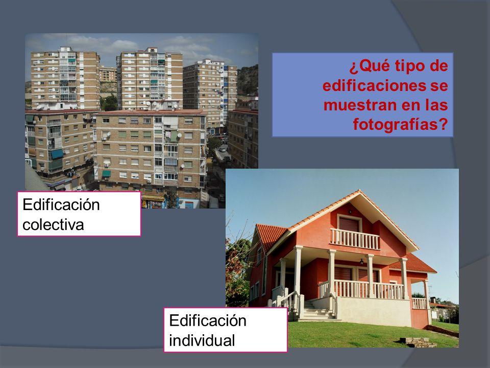 ¿Qué tipo de edificaciones se muestran en las fotografías