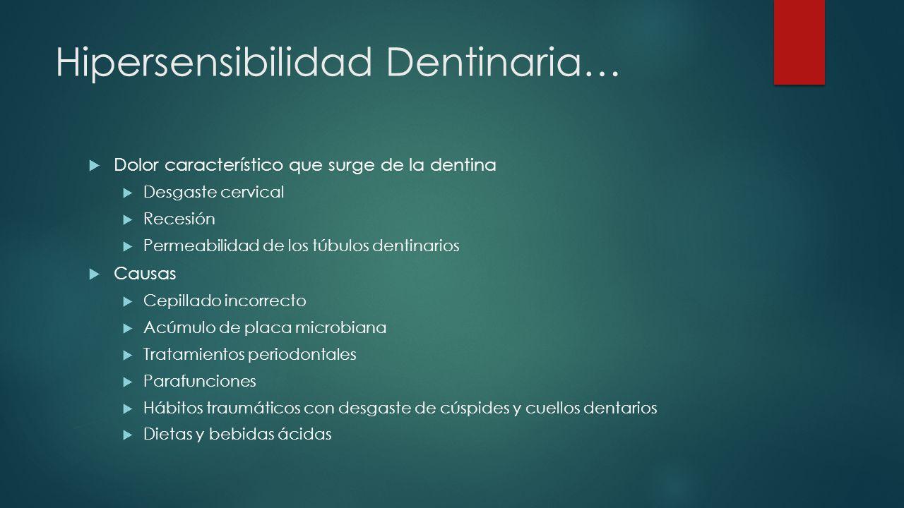 Hipersensibilidad Dentinaria…