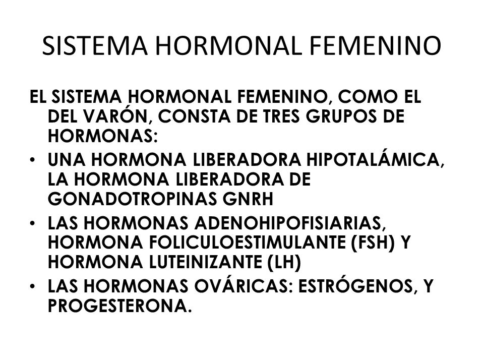 SISTEMA HORMONAL FEMENINO