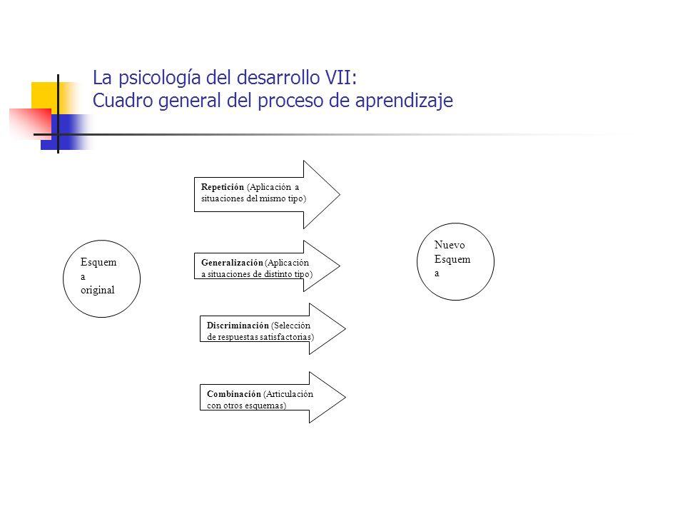 La psicología del desarrollo VII: Cuadro general del proceso de aprendizaje