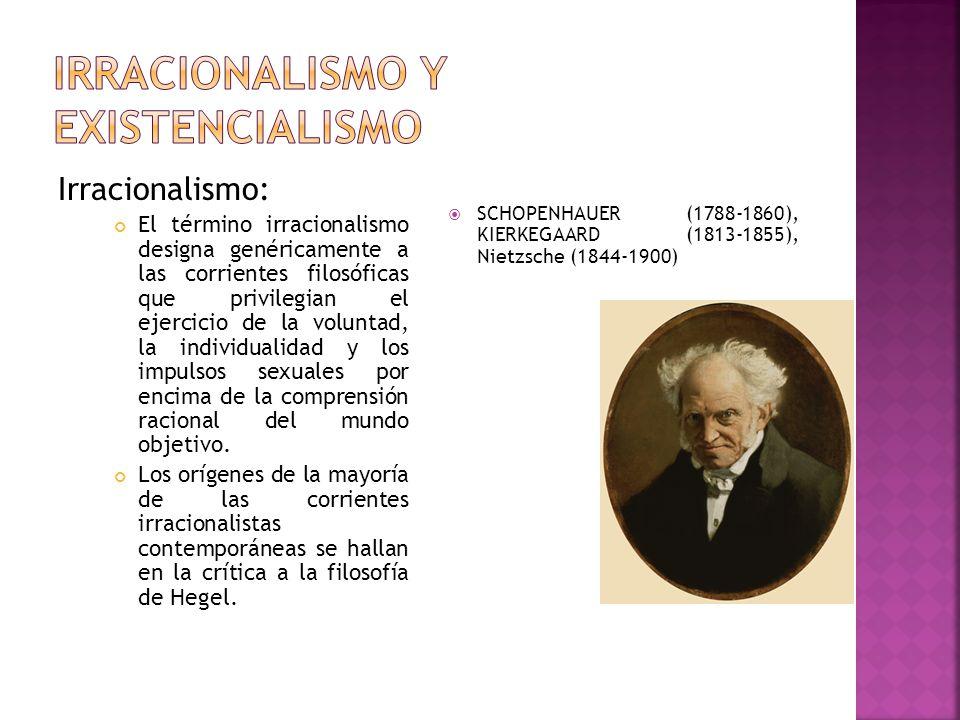 Irracionalismo y existencialismo