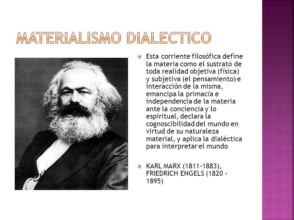 MATERIALISMO DIALECTICO