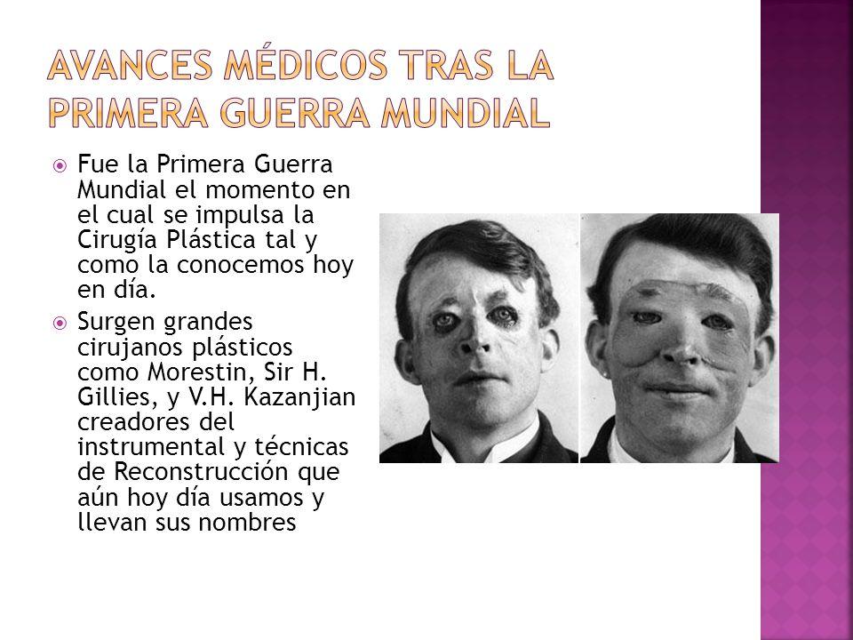 Avances médicos tras la primera guerra mundial