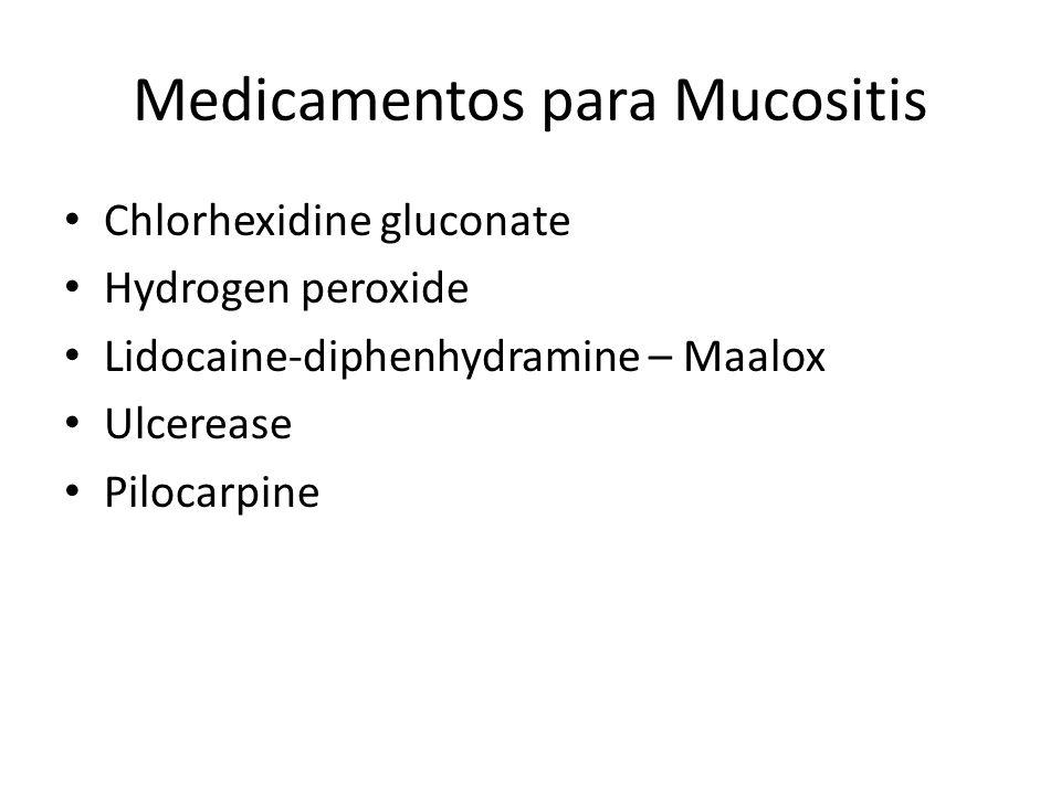Medicamentos para Mucositis