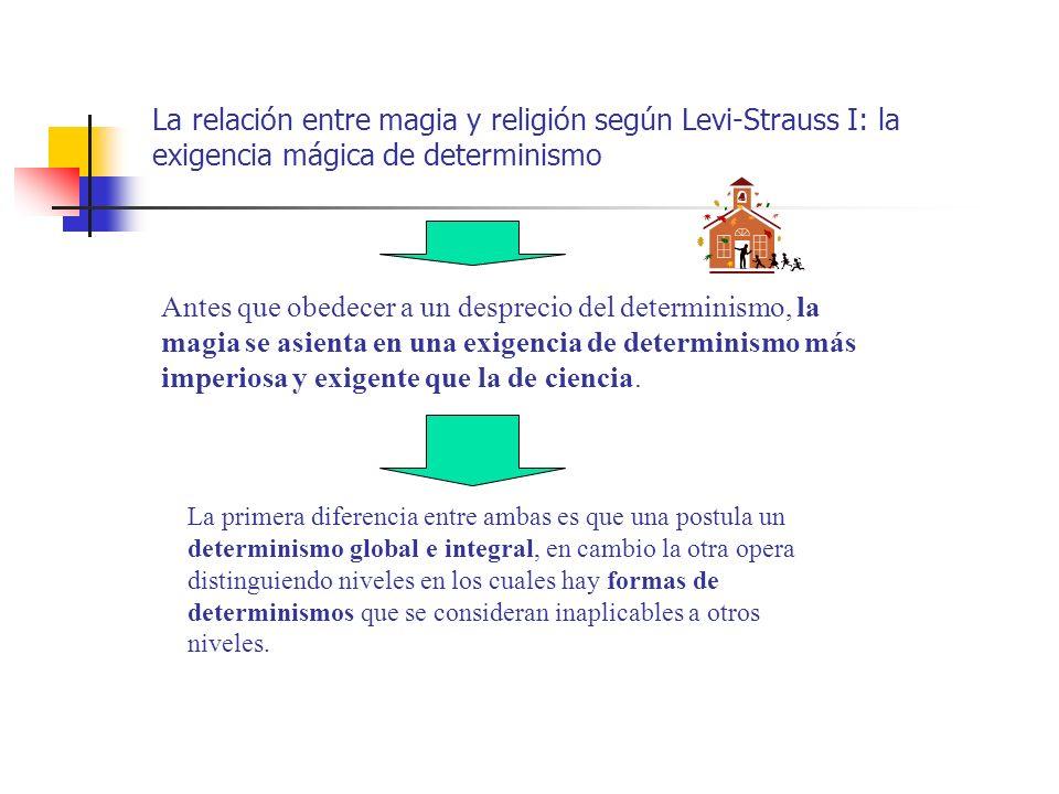 La relación entre magia y religión según Levi-Strauss I: la exigencia mágica de determinismo