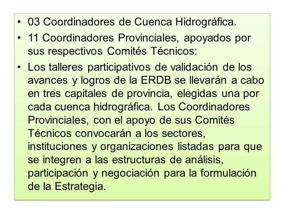 03 Coordinadores de Cuenca Hidrográfica.