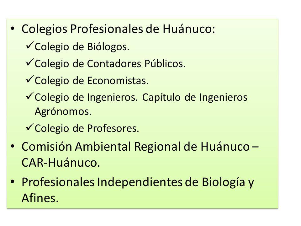 Colegios Profesionales de Huánuco: