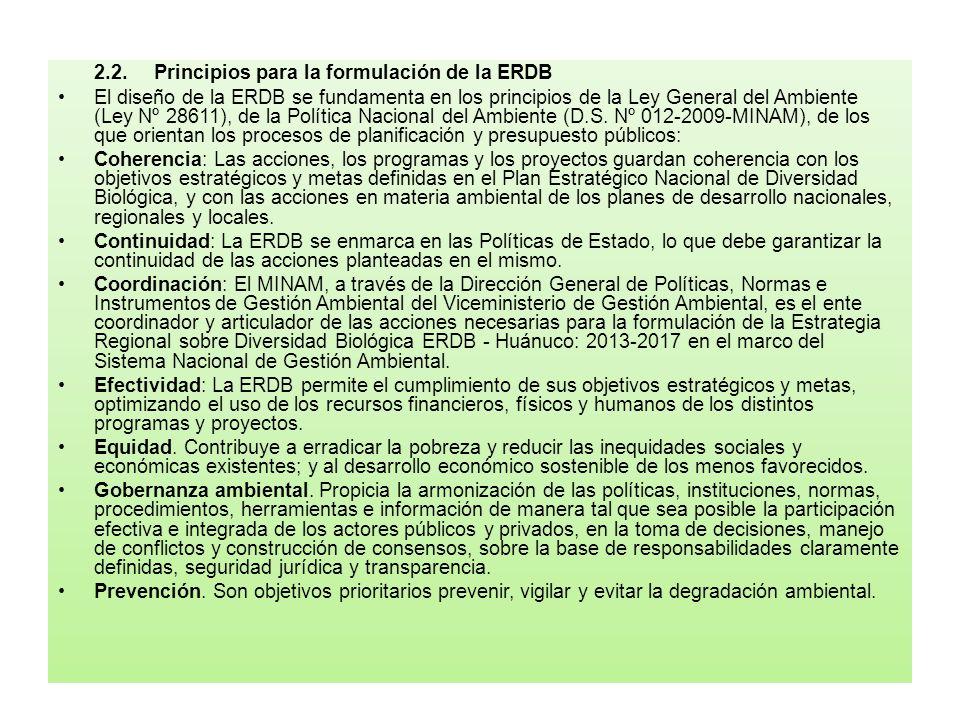 2.2. Principios para la formulación de la ERDB