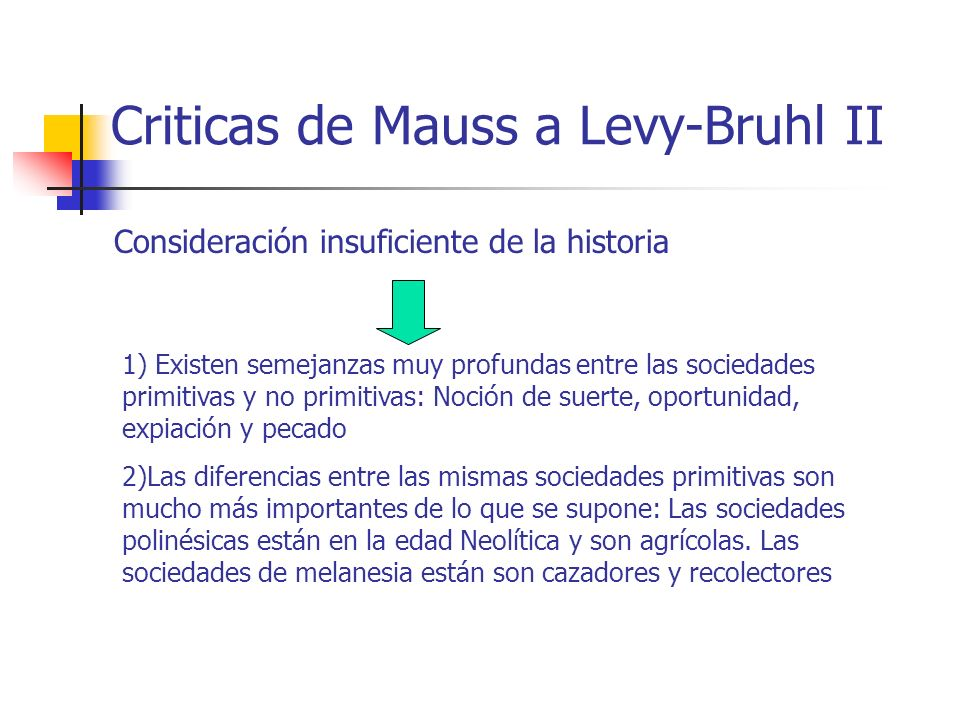 Criticas de Mauss a Levy-Bruhl II