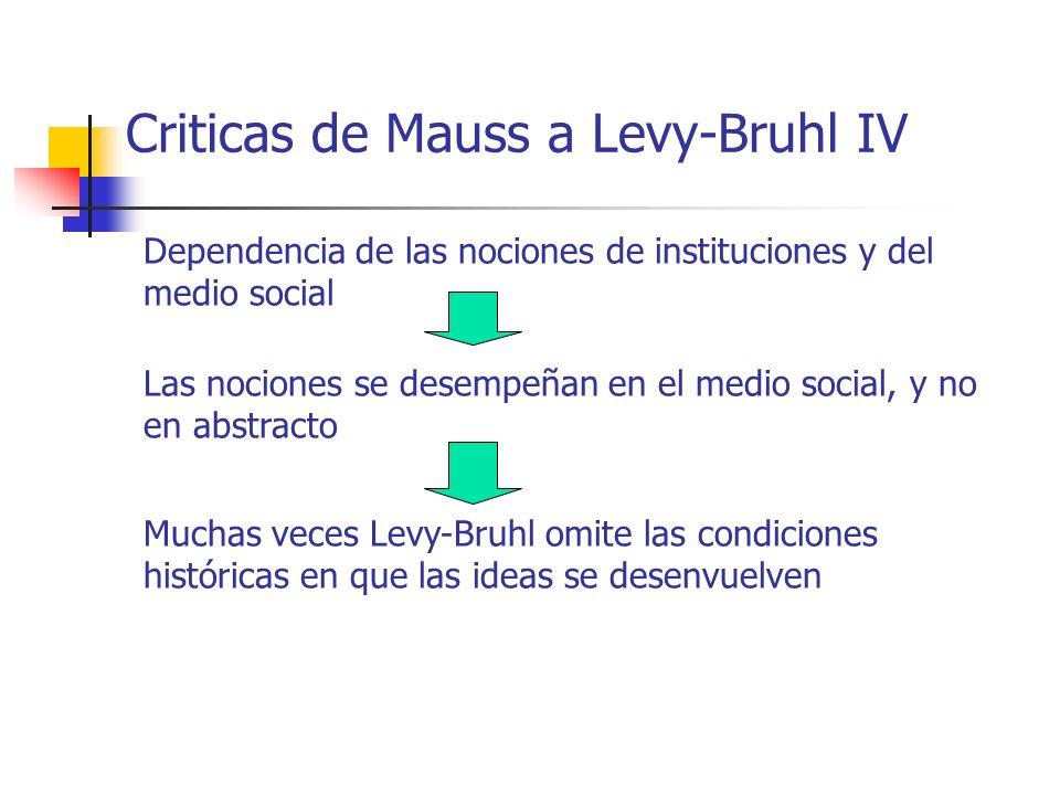 Criticas de Mauss a Levy-Bruhl IV