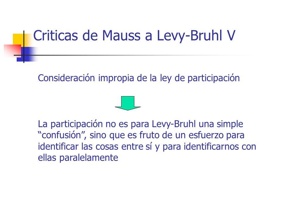 Criticas de Mauss a Levy-Bruhl V