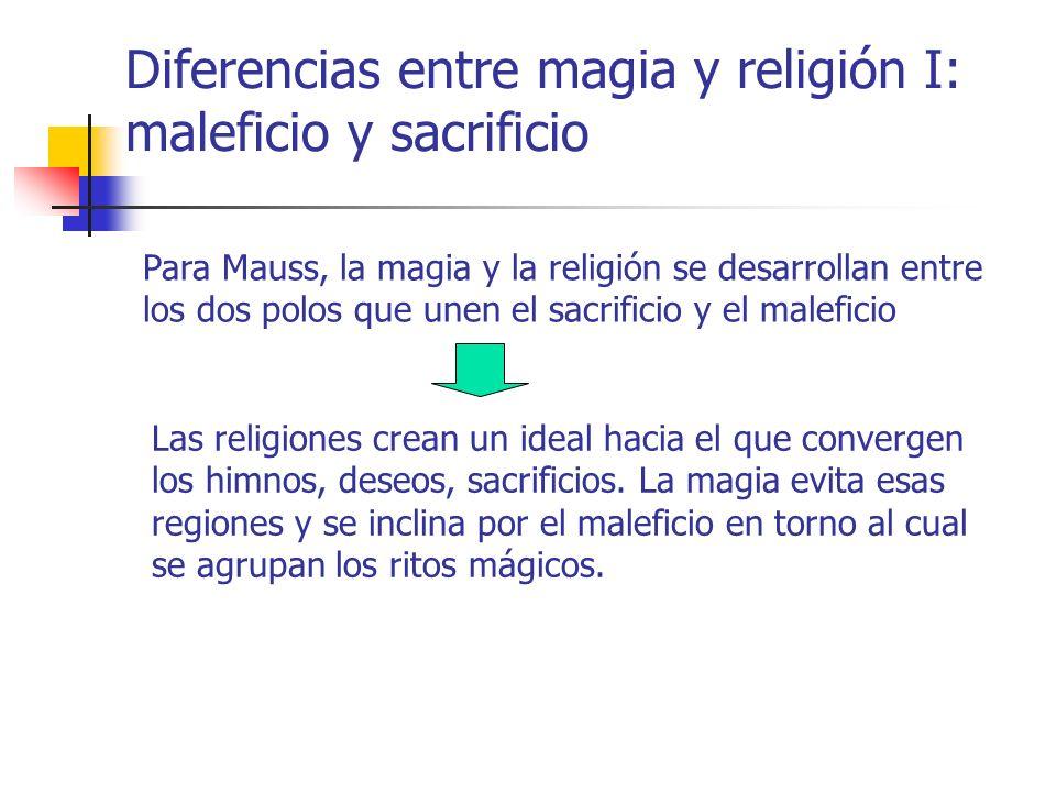 Diferencias entre magia y religión I: maleficio y sacrificio
