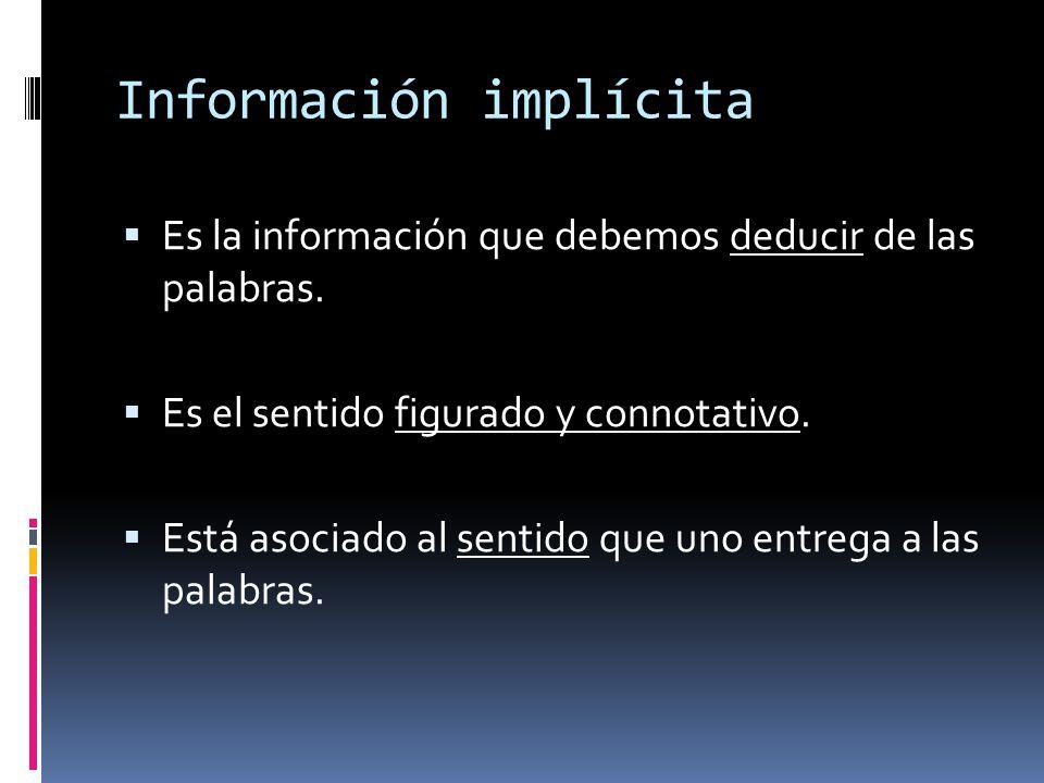 Información implícita