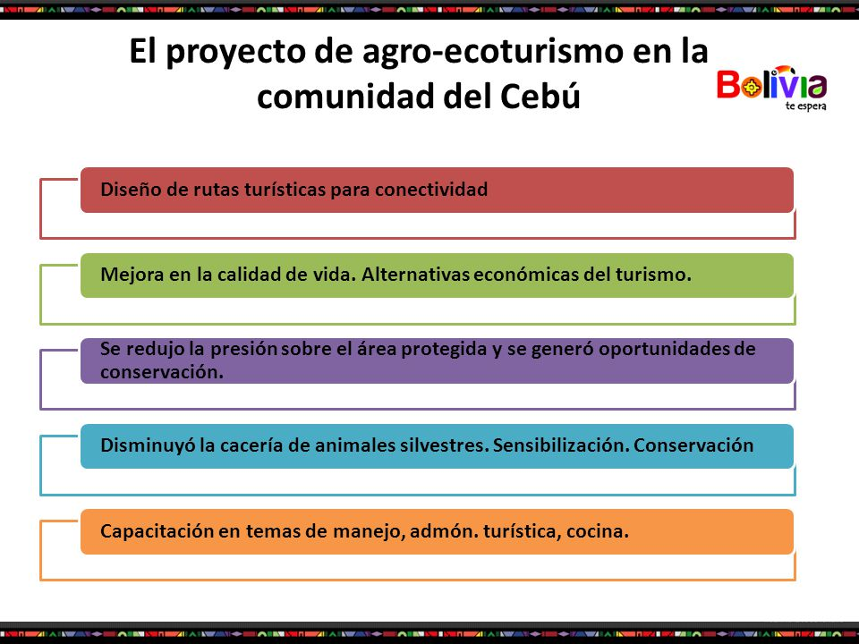 El proyecto de agro-ecoturismo en la comunidad del Cebú