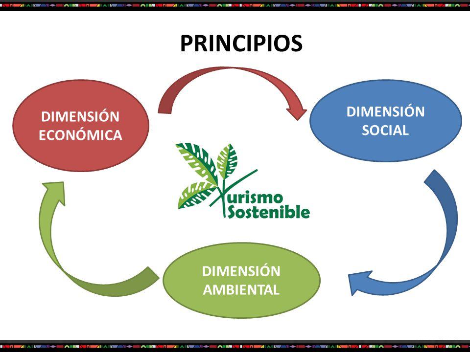 PRINCIPIOS DIMENSIÓN ECONÓMICA DIMENSIÓN SOCIAL DIMENSIÓN AMBIENTAL