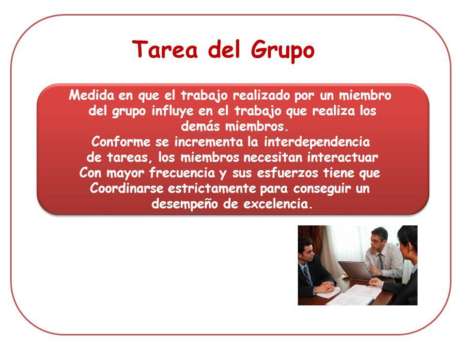 Tarea del Grupo Medida en que el trabajo realizado por un miembro