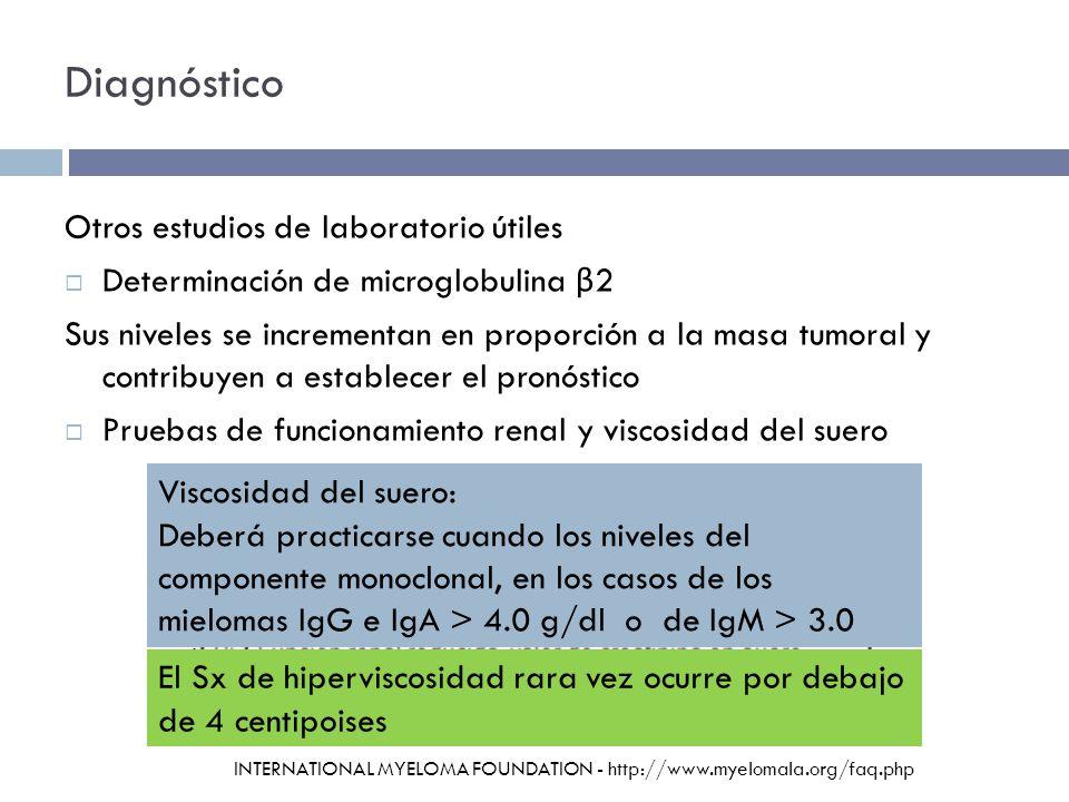 Diagnóstico Otros estudios de laboratorio útiles