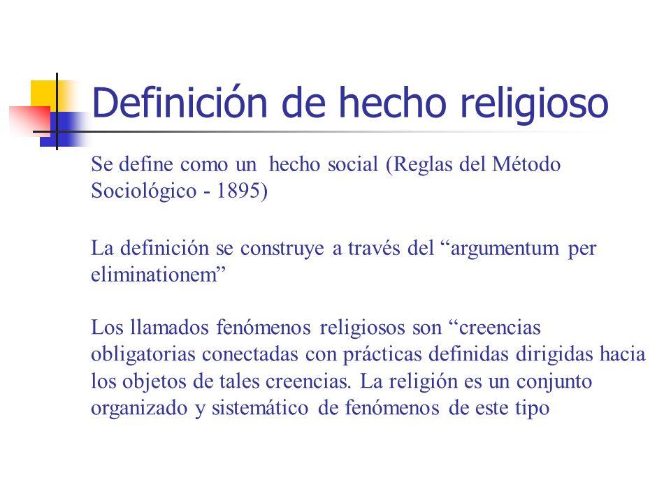 Definición de hecho religioso