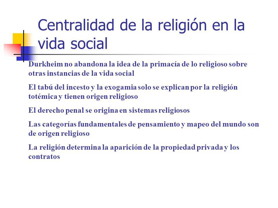 Centralidad de la religión en la vida social