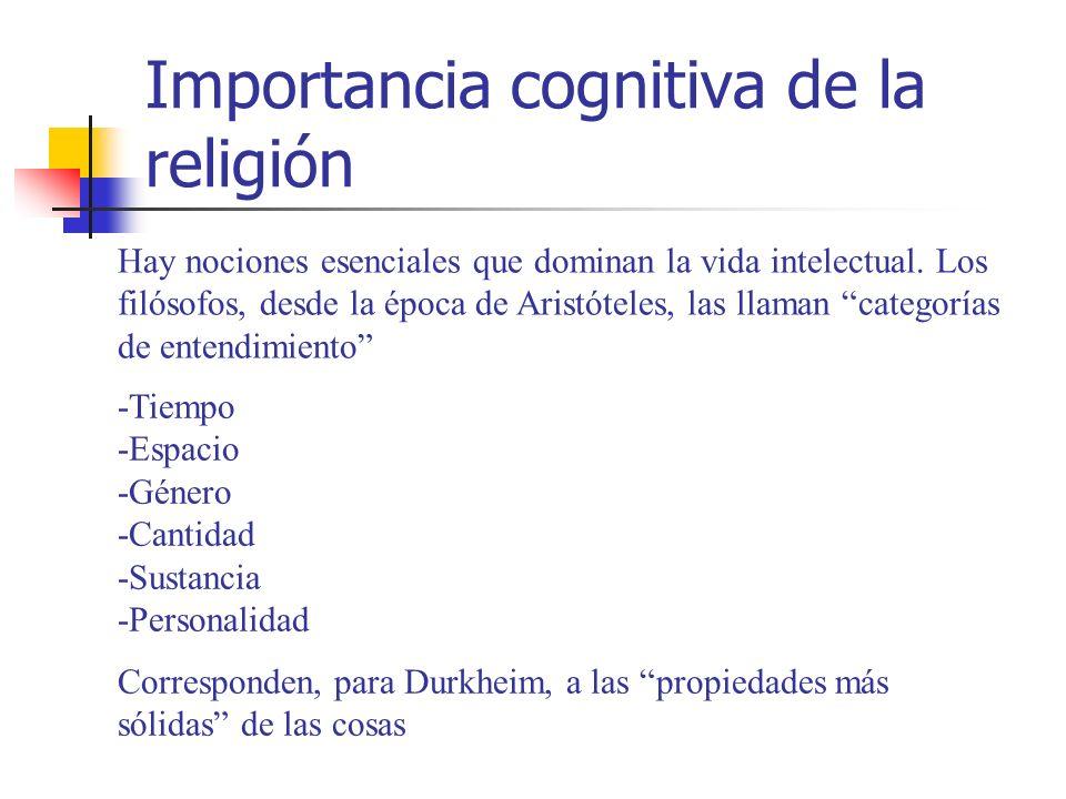 Importancia cognitiva de la religión