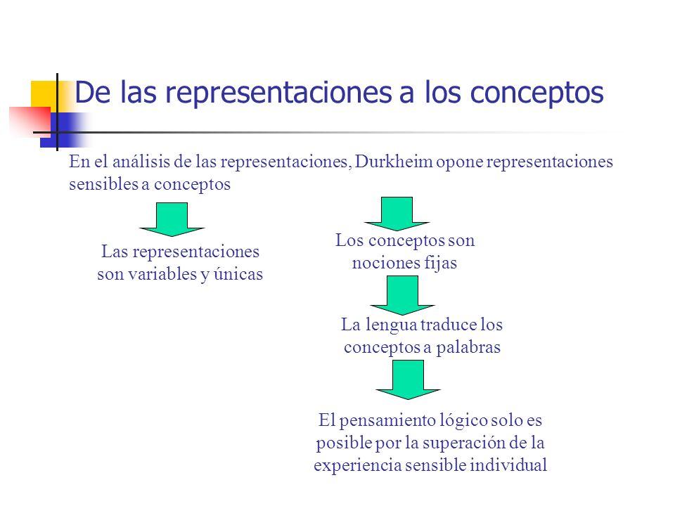De las representaciones a los conceptos