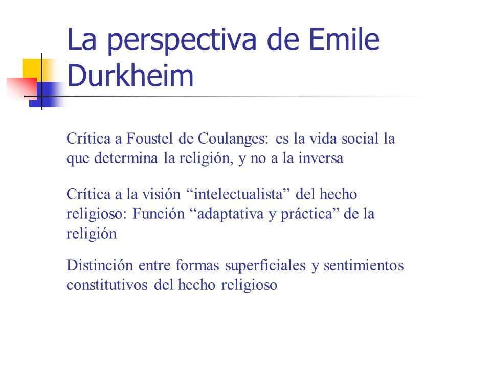 La perspectiva de Emile Durkheim