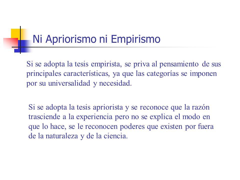 Ni Apriorismo ni Empirismo