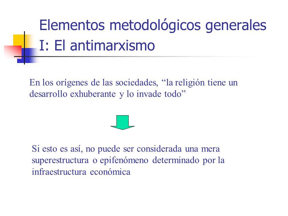 Elementos metodológicos generales I: El antimarxismo