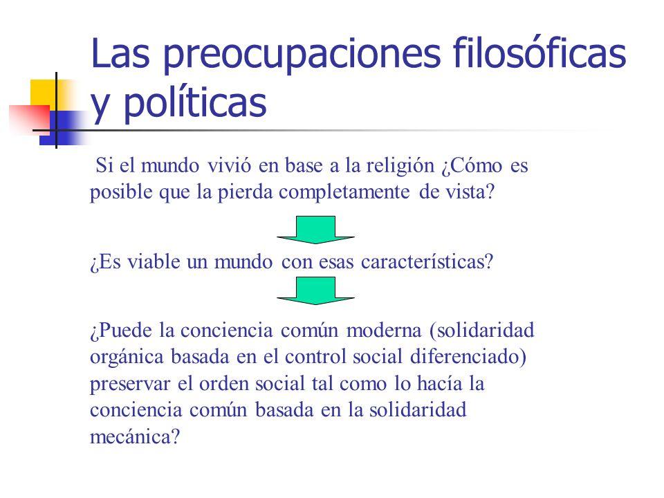 Las preocupaciones filosóficas y políticas