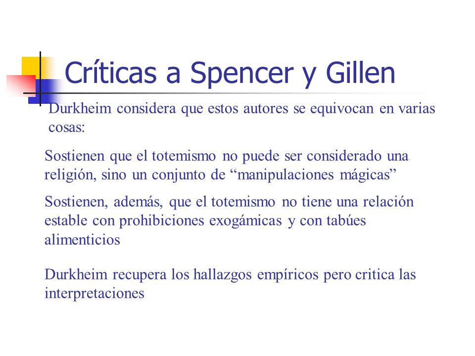 Críticas a Spencer y Gillen