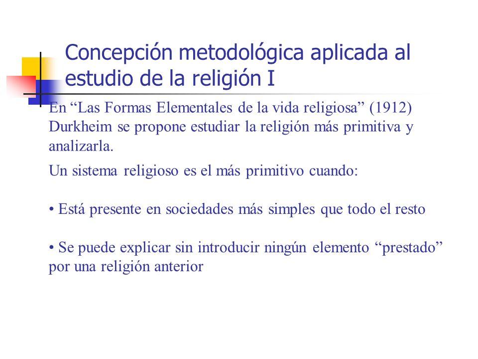 Concepción metodológica aplicada al estudio de la religión I