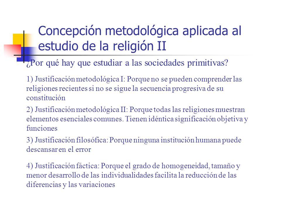 Concepción metodológica aplicada al estudio de la religión II