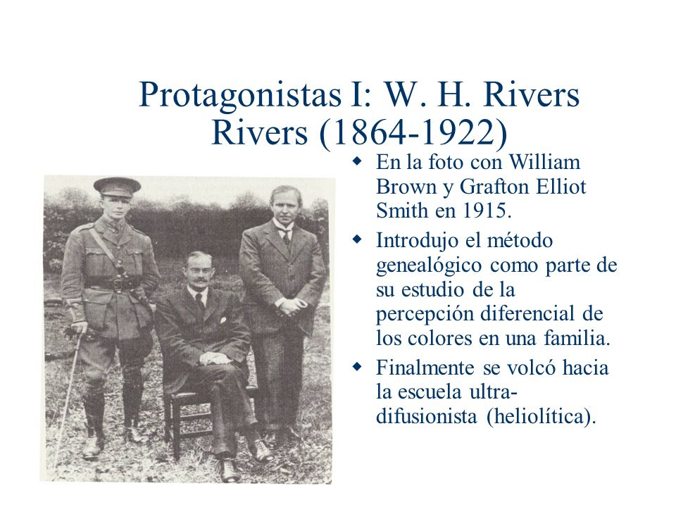 Protagonistas I: W. H. Rivers Rivers (1864-1922)
