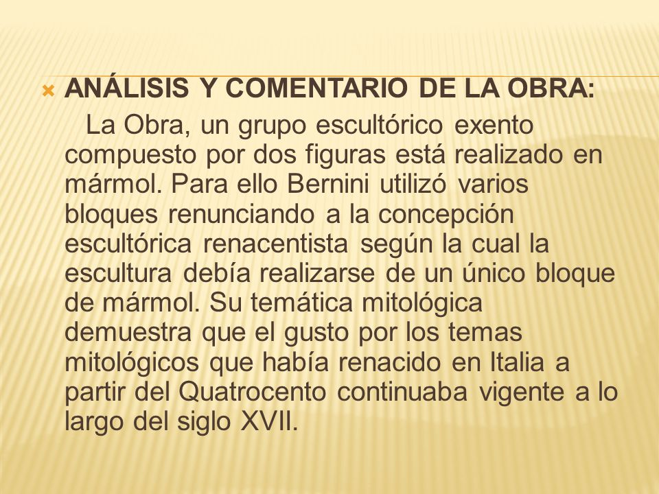 ANÁLISIS Y COMENTARIO DE LA OBRA:
