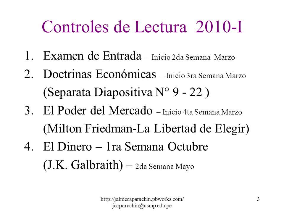 Controles de Lectura 2010-I