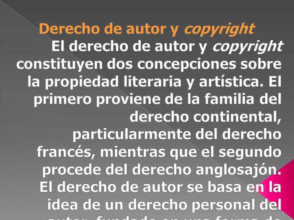 Derecho de autor y copyright