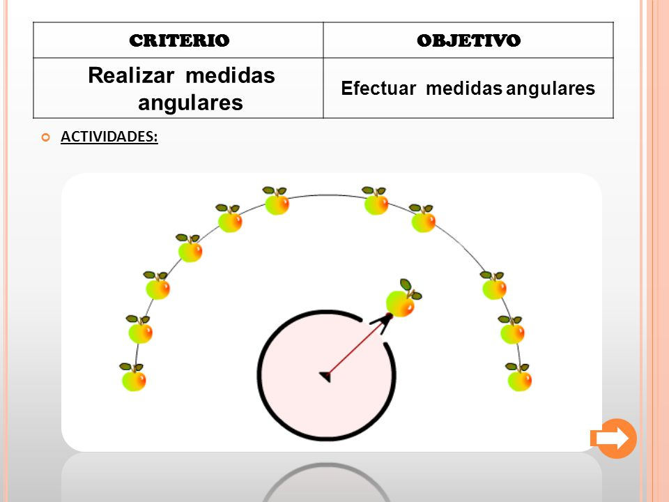 Realizar medidas angulares Efectuar medidas angulares